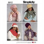 8812 Simplicity Pattern: Hats